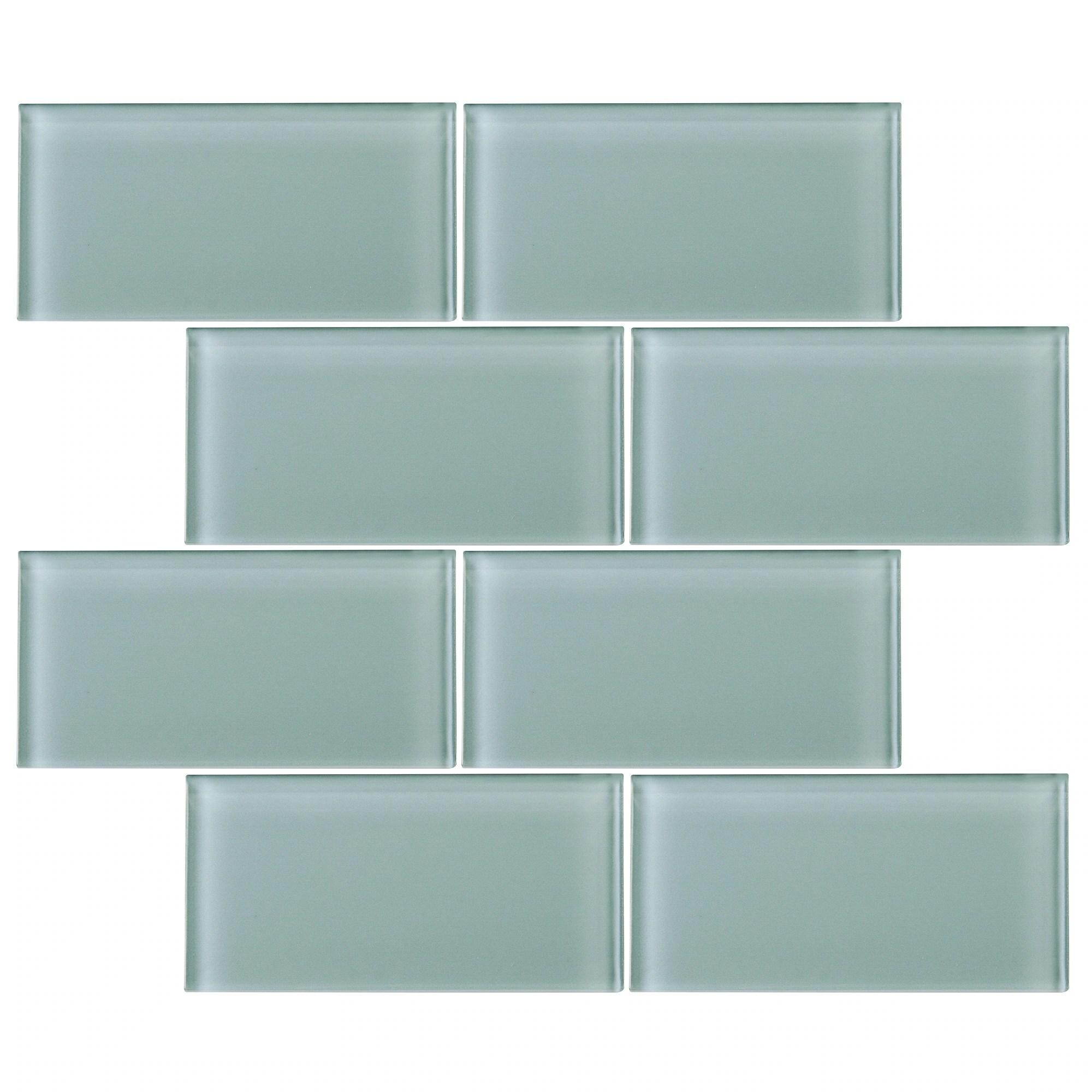 tilegen 3 x 6 glass subway tile in light gray wall tile 80 tiles 10sqft
