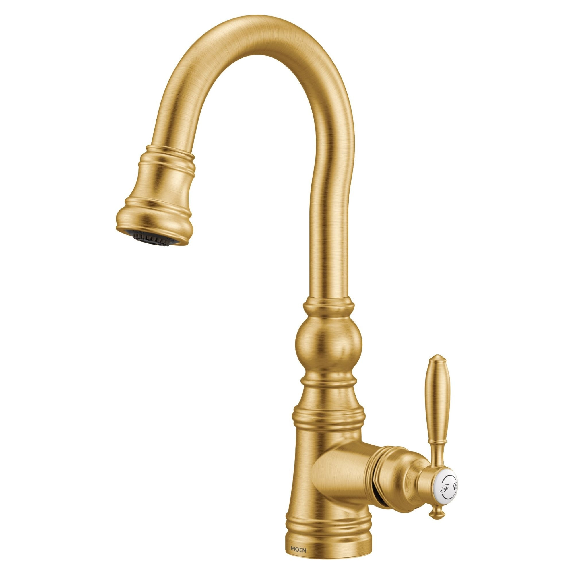 moen one handle pulldown bar faucet brushed gold s53004bg