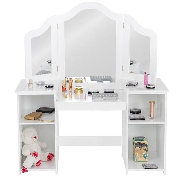 costway vanity table set makeup