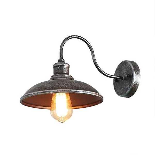 retro industrial wall light with metal shade indoor antique retro wall sconce