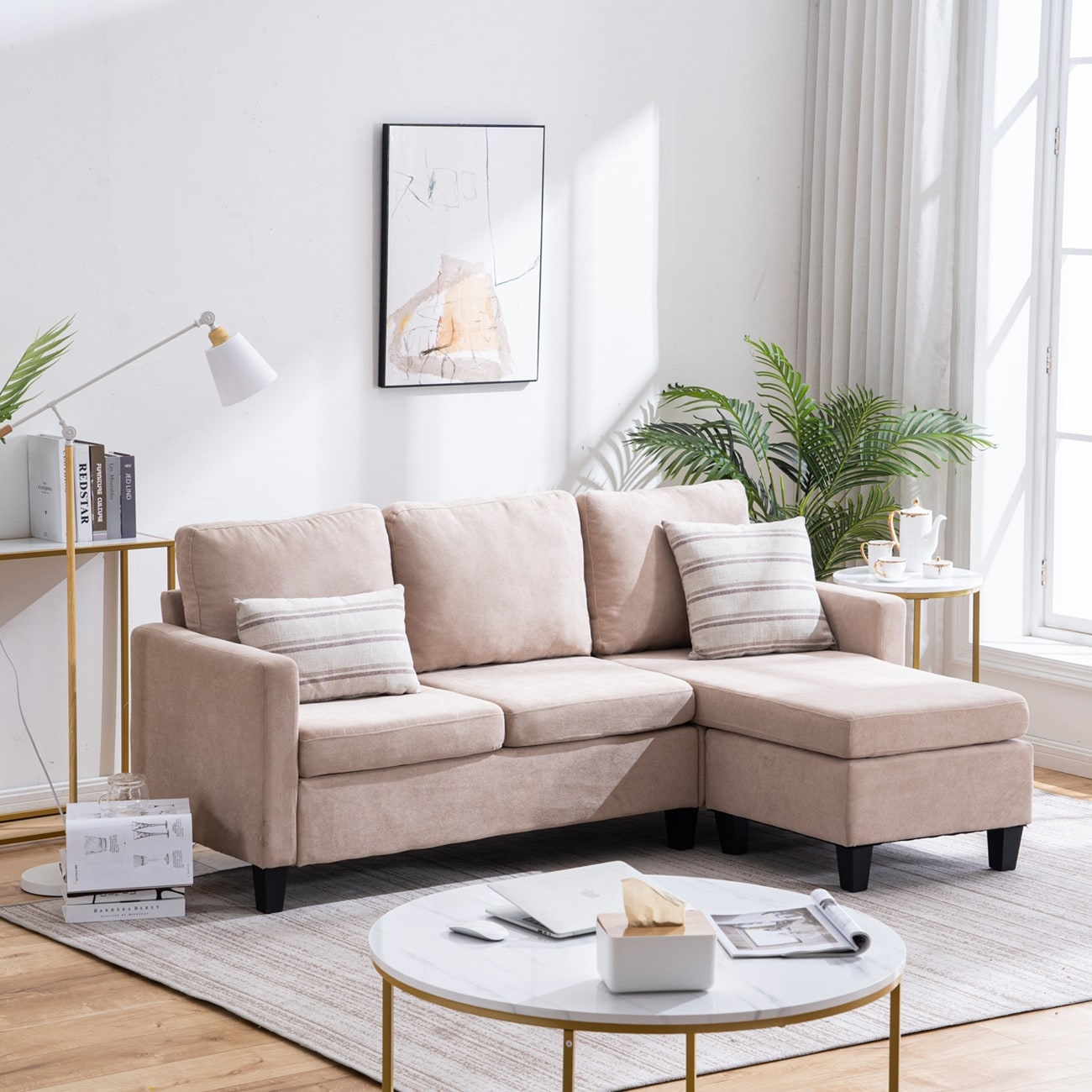 reversible l shaped sectional sofa set