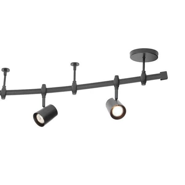 6 light adjustable track lighting kit