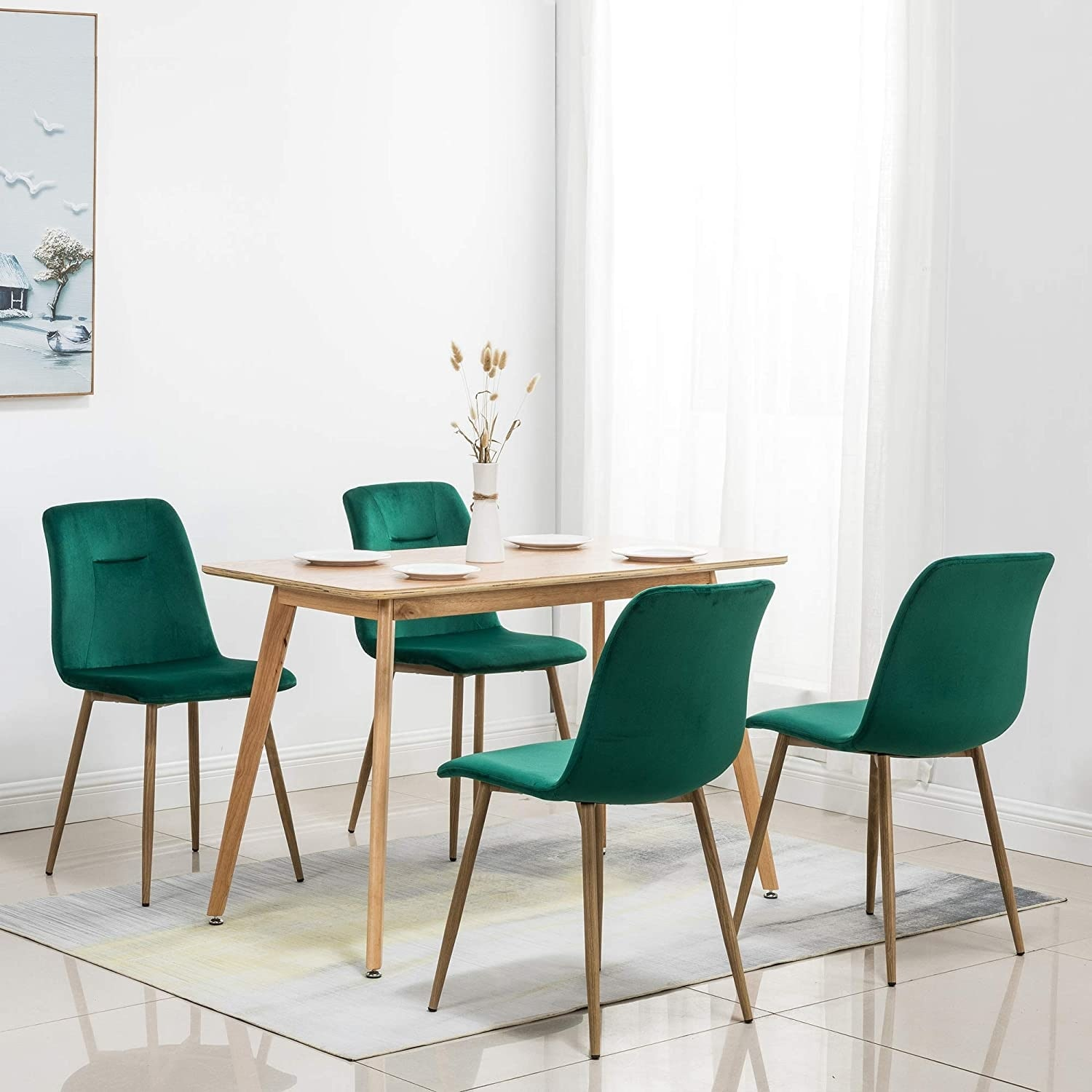 Shop Black Friday Deals On Ivinta Modern Living Room Accent Armless Chairs Set Of 4 Velvet Dining Chairs Overstock 31756368 Yellow