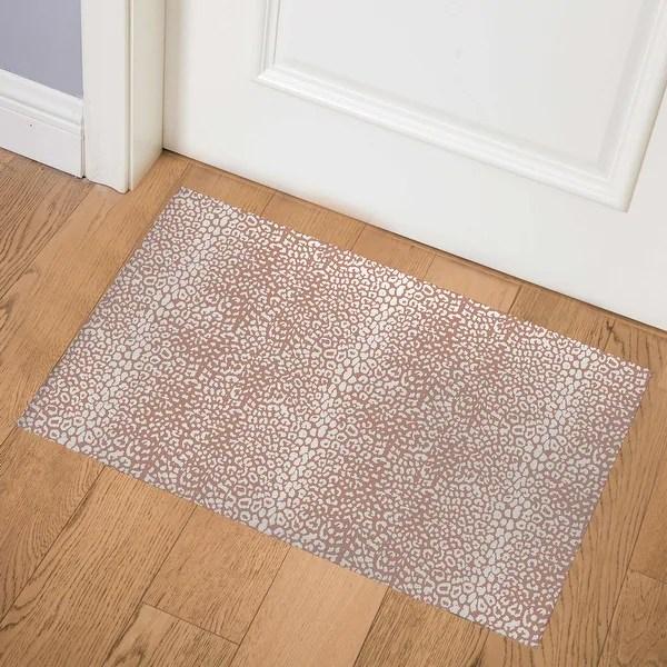 Shop Cheetah Rust Indoor Door Mat By Kavka Designs Overstock 31960602