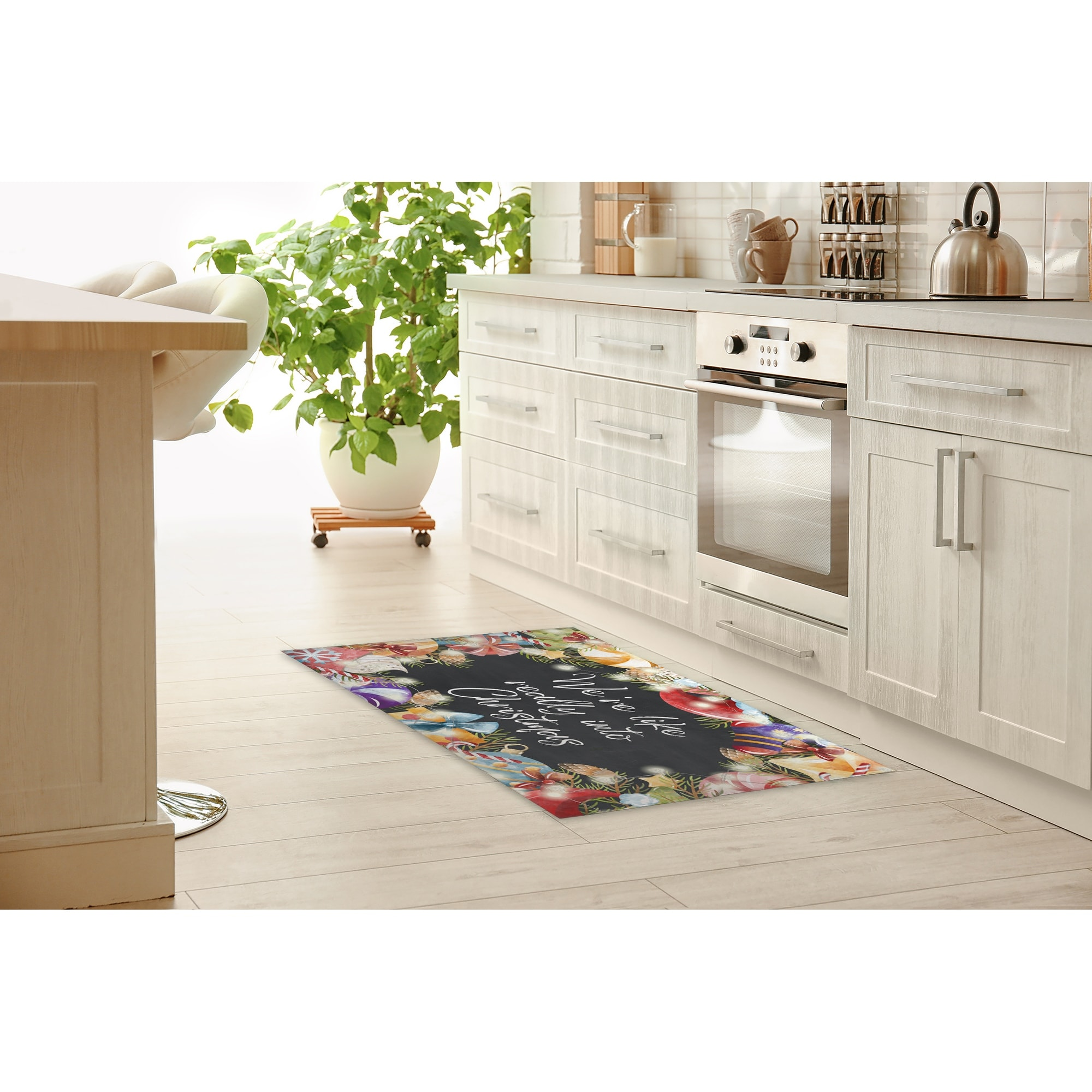 We Re Like Really Into Christmas Kitchen Mat By Kavka Designs Overstock 32224539