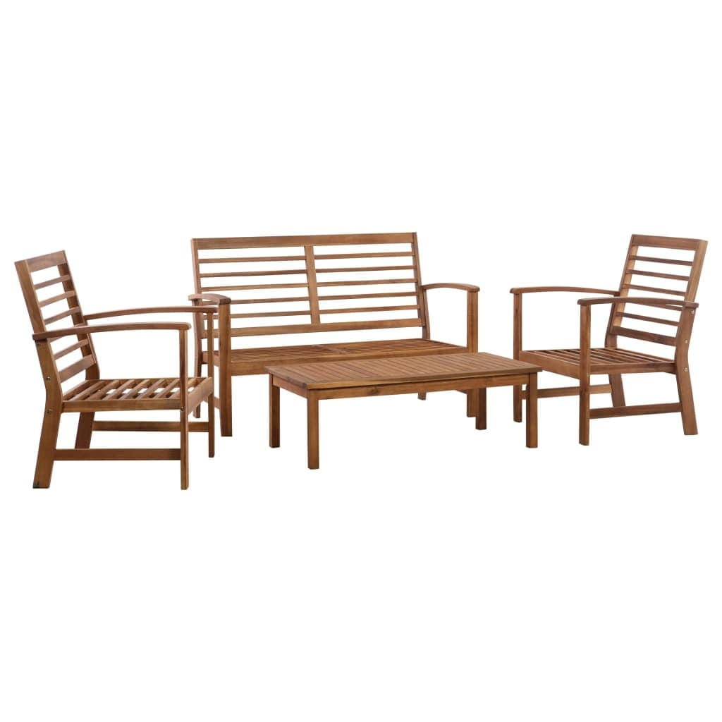 4 piece outdoor patio bench furniture