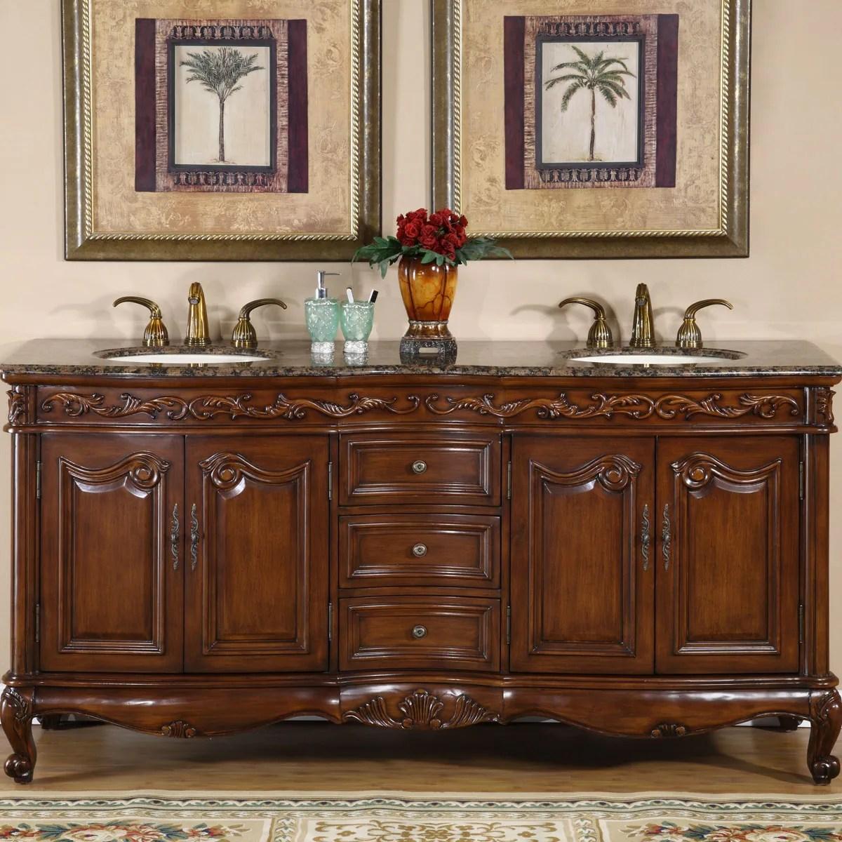 silkroad exclusive stone counter top double sink cabinet 72 inch bathroom vanity