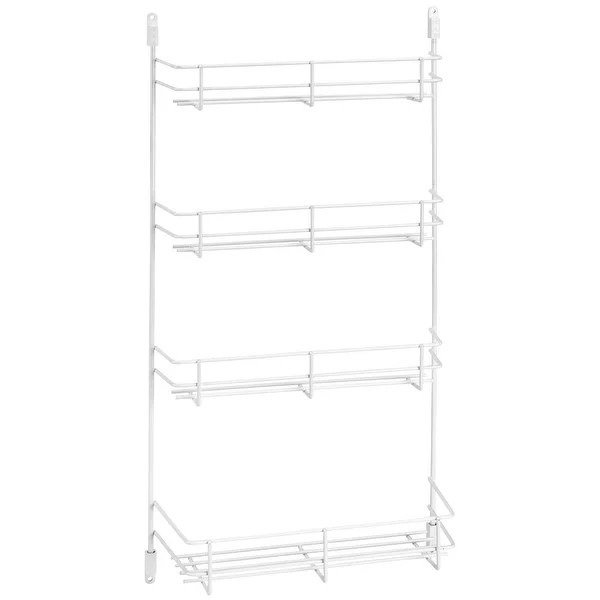 rev a shelf 565 10 52 565 series 10 cabinet door 4 shelf spice rack white