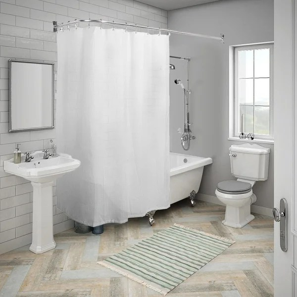 rustproof l shaped corner shower