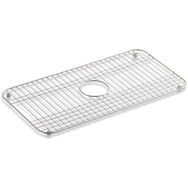 kohler k 6517 bakersfield basin rack for single bowl sink stainless steel