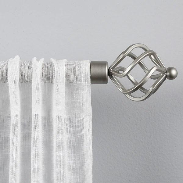 wrought iron curtain rods hardware
