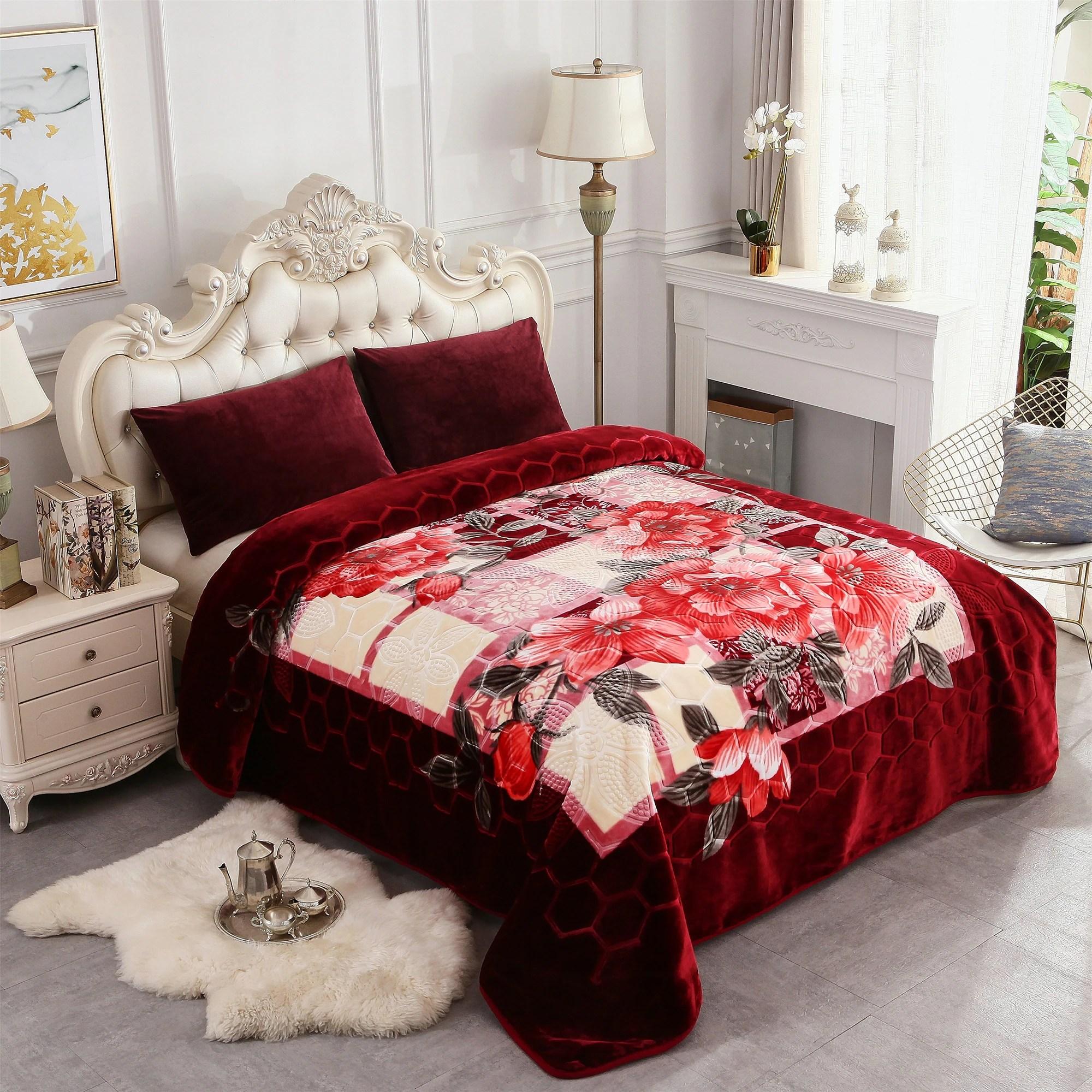 heavy korean mink blanket fleece blanket king size 85 x 95