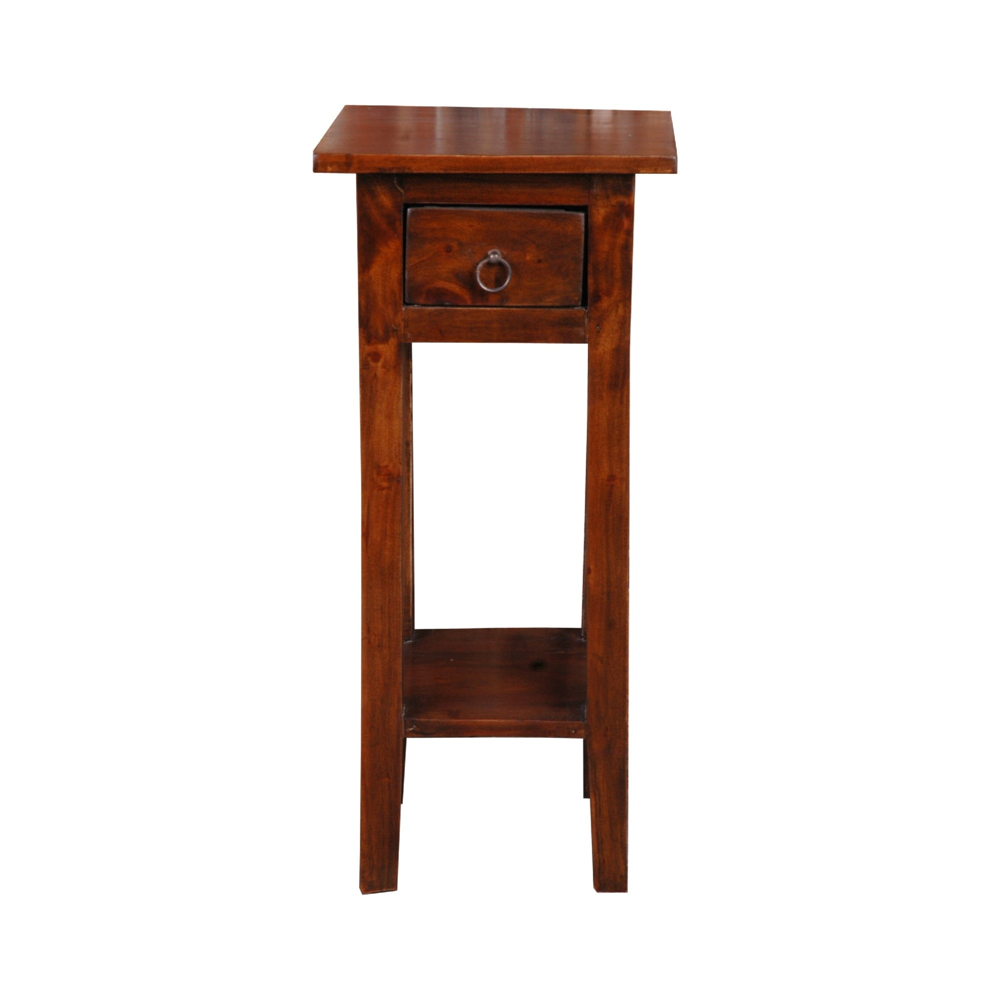 Shop 25 75 Brown Cottage Narrow Side Table With Drawer Overstock 29857615