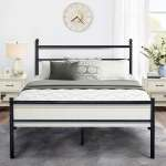 Shop Black Friday Deals On Black Classic Metal Bed Frames With Simple Headboard And Footboard By Vecelo Twin Full Queen 3 Size Options Overstock 28865051