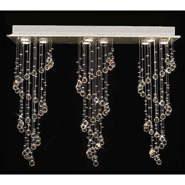 Modern Crystal Ball Chandelier Raindrop Light Lighting Fixture