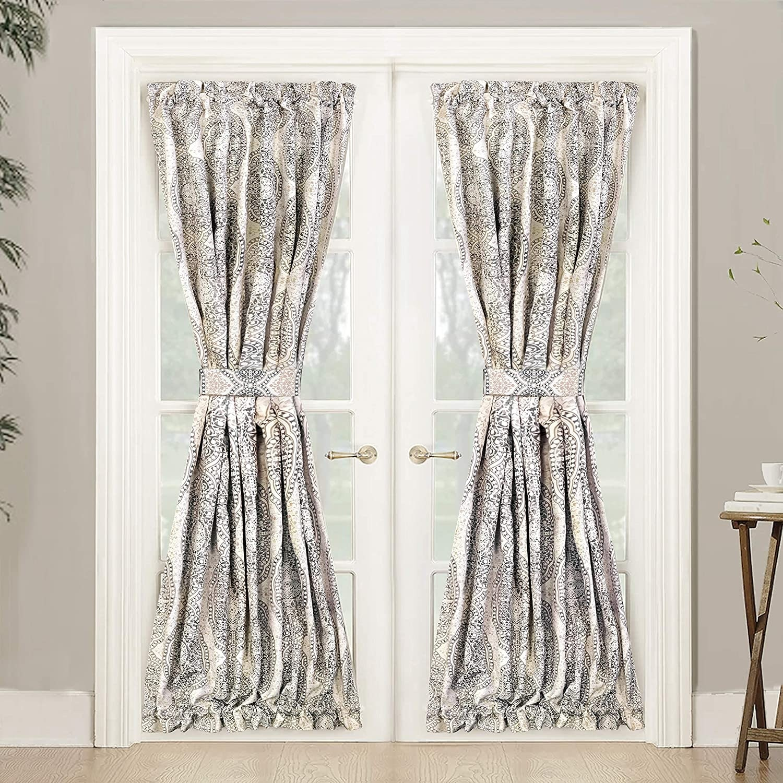driftaway adrianne rod pocket room darkening patio french door curtain panel pair