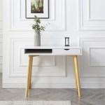 Contemporary White Austin Hardwood Home Office Desk Overstock 25858726