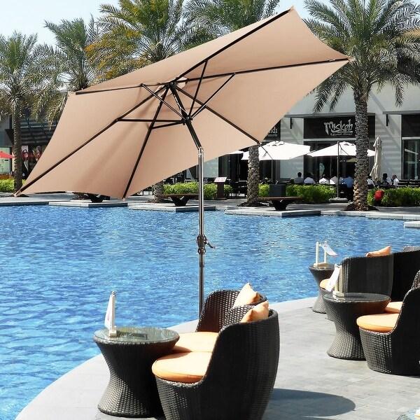 costway 9ft patio umbrella patio market