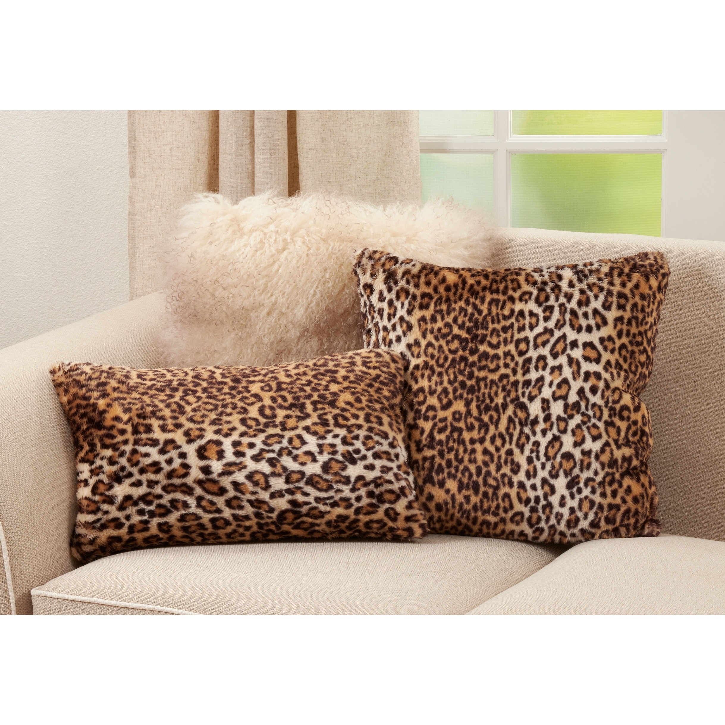 faux pillow with cheetah print
