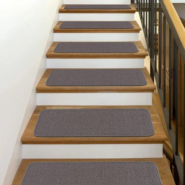 Shop Beverly Rug Indoor Non Slip Carpet Stair Treads 8 5 X 26 | Black Carpet Stair Treads | Bullnose | Padded | Stair Runner | Staircase | Non Slip Stair Tread