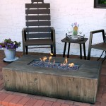 Sunnydaze Rustic Faux Wood Propane Gas Fire Pit Table W Cover Lava Rocks 48 Overstock 22890516