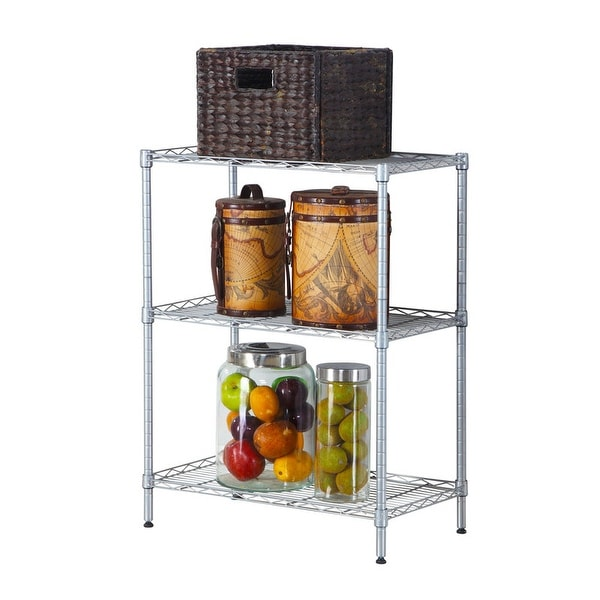 concise 3 shelf carbon steel pp home