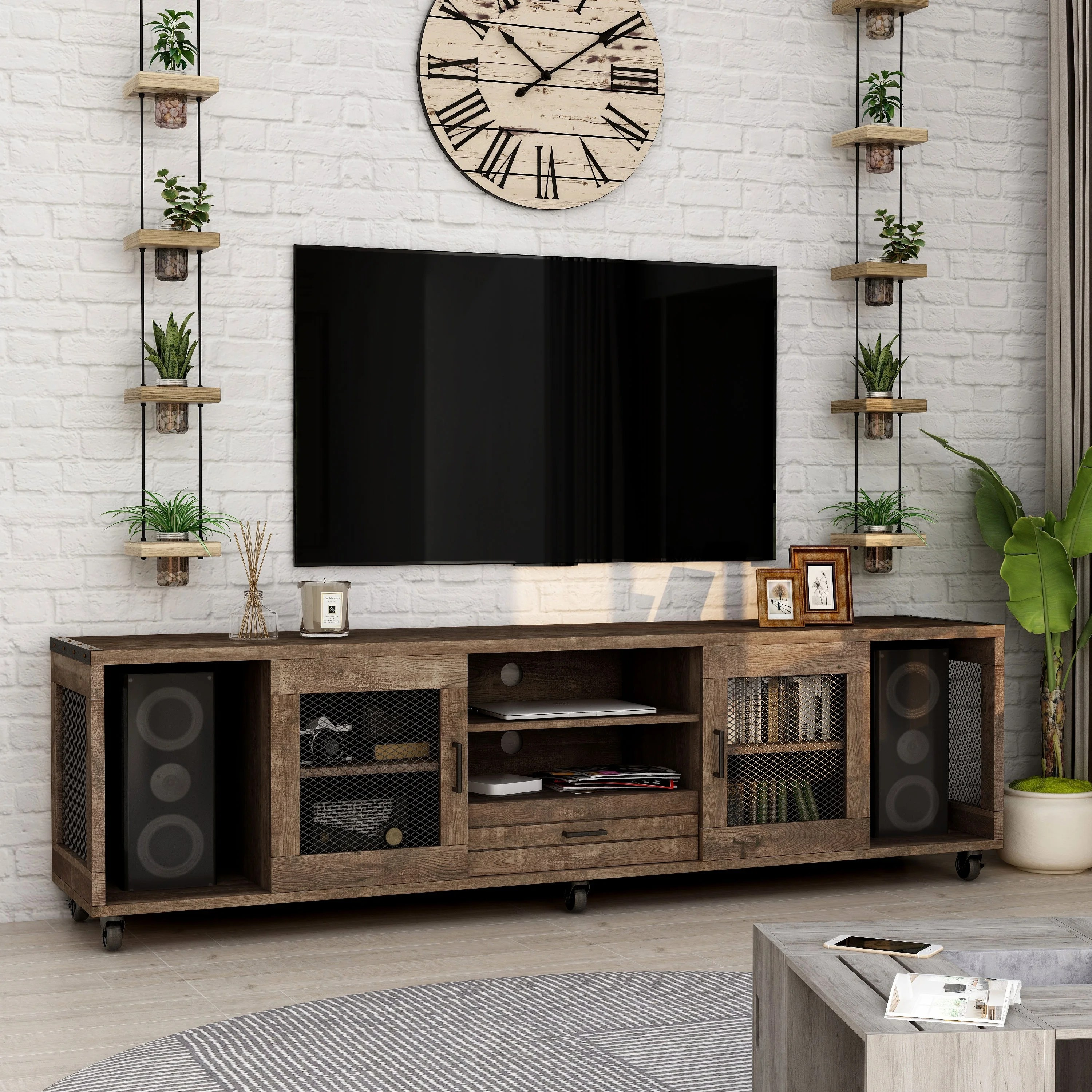 furniture of america hury industrial 70 inch tv stand