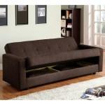 Furniture Of America Cozy Contemporary Brown Fabric Futon Sofa Bed Overstock 6626826