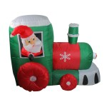 Shop Black Friday Deals On 4 5 Inflatable Santa On Locomotive Train Lighted Outdoor Christmas Decoration Overstock 25321566