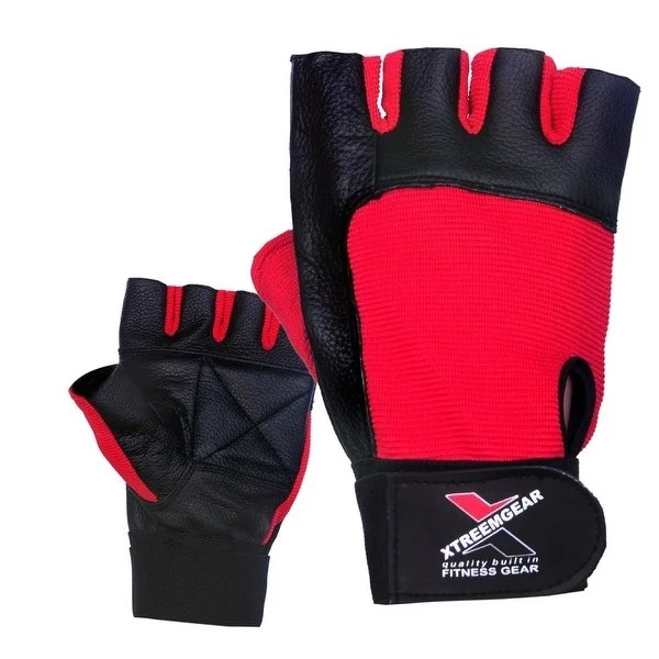 Shop Weight Lifting Gloves Leather Fitness Training Gym