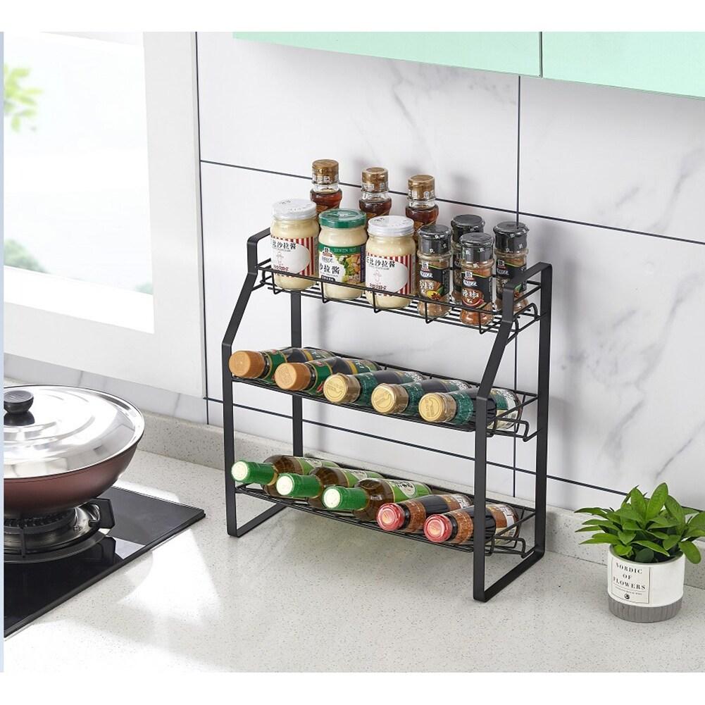 3 tier kitchen storage rack counter organizer spice rack shelf
