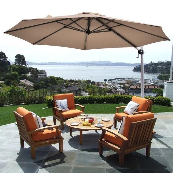 11 patio cantilever offset umbrella