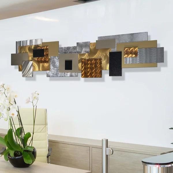 Shop Statements2000 Extra Large Modern 3d Metal Wall Art Hanging Sculpture Jon Allen Copper Impromto Xl Overstock 28545967