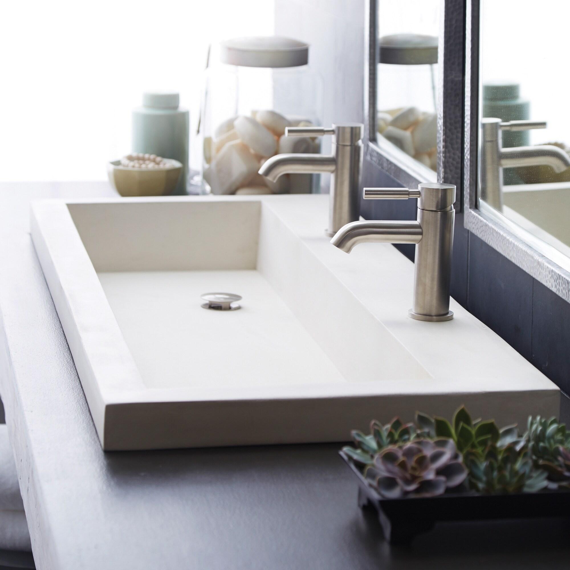 trough 48 inch nativestone undermount drop in double bathroom sink 48 x 19 x 5