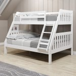 Twin Over Full White Pine Wood Mission Bunk Bed Overstock 31226782 Standalone Bunk White