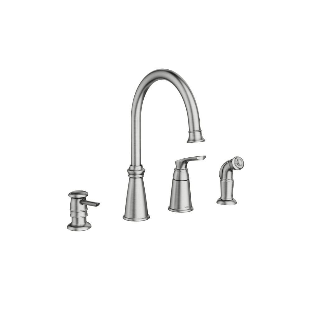 moen 87044 whitmore single handle high arch kitchen faucet with side