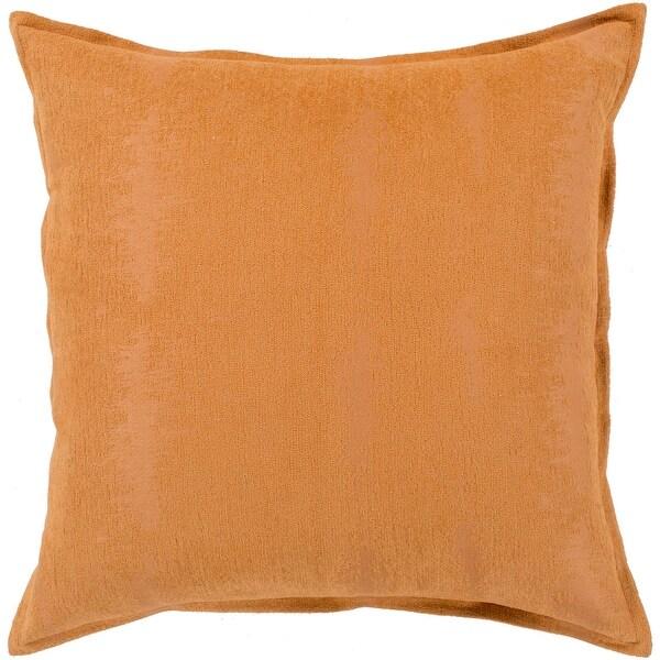 carson carrington tastebol orange solid chenille throw pillow cover 22 x 22