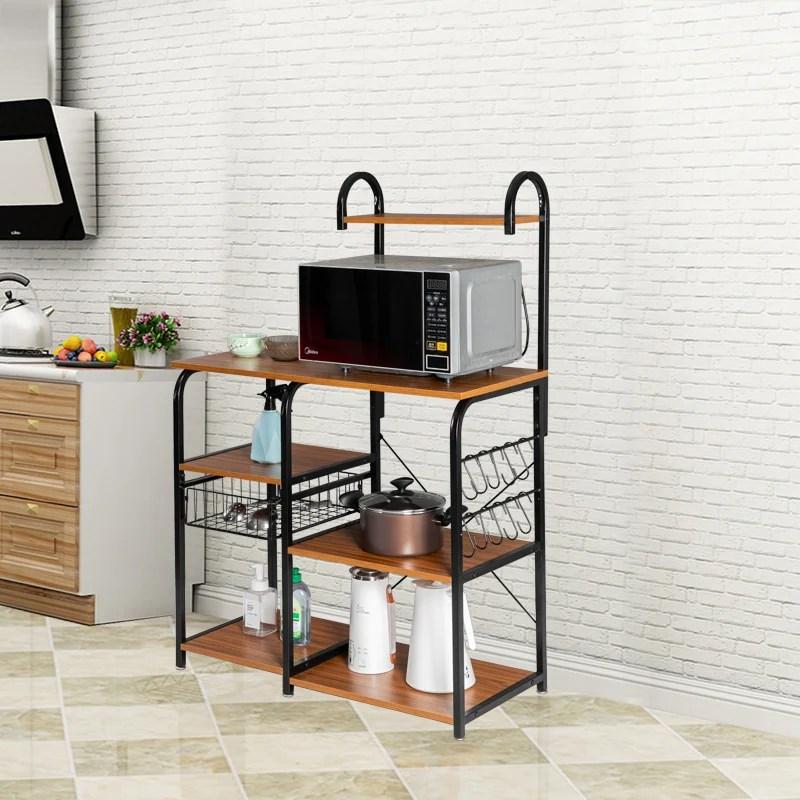 kitchen microwave cart 3 tier utility cart vintage kitchen baker s rack
