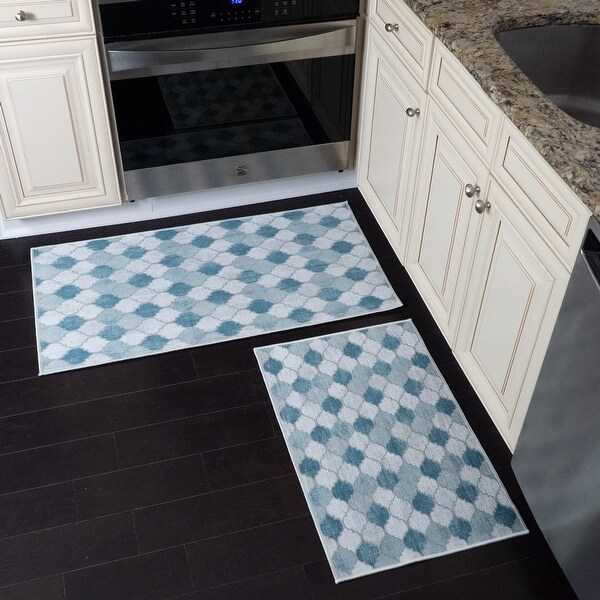 buy blue kitchen rugs mats online at