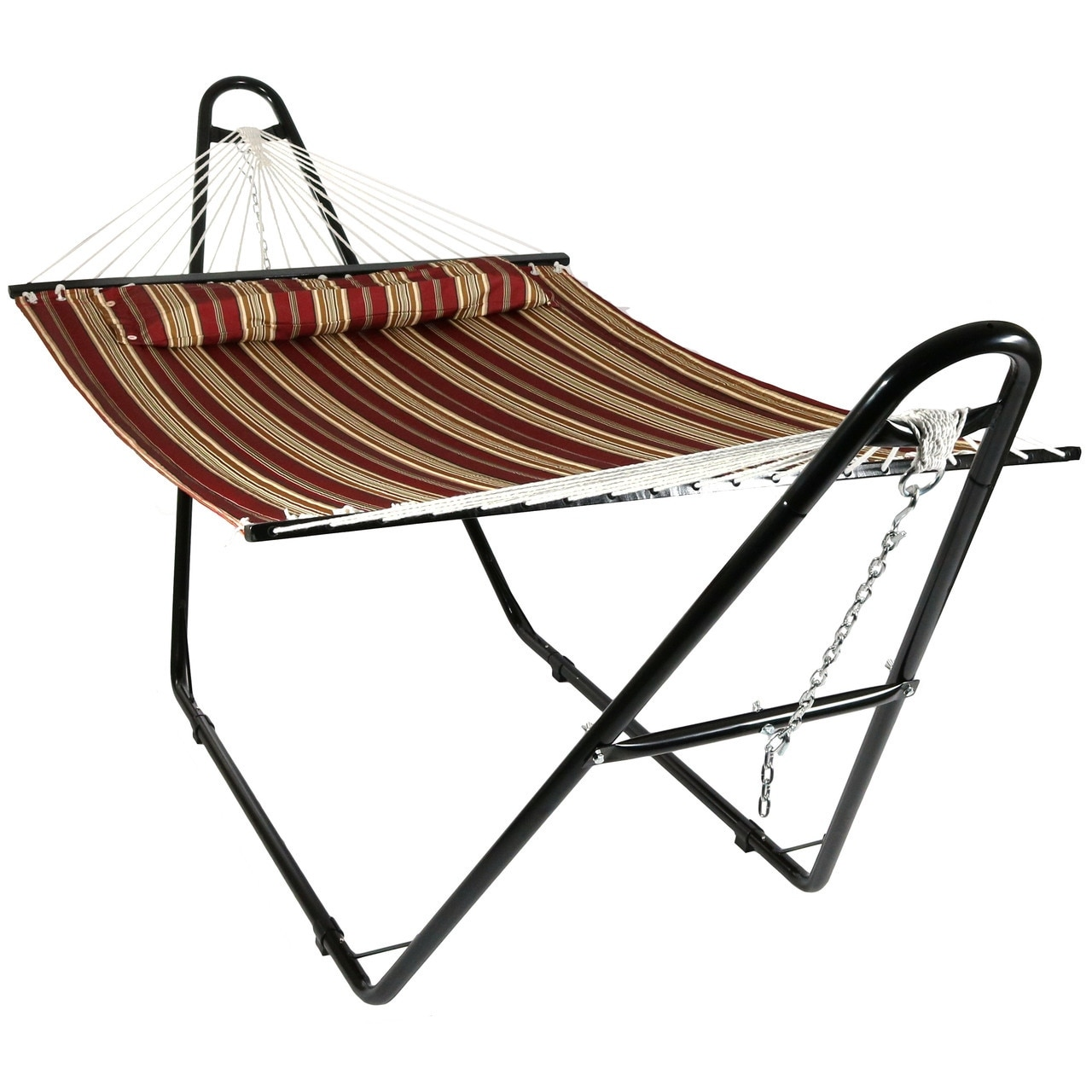 Shop Sunnydaze Quilted Double Fabric 2 Person Hammock With