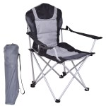 Gymax Portable Fishing Camping Chair Seat Cup Holder Beach Picnic Outdoor Folding Bag