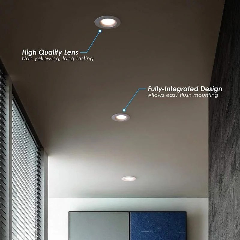 4 inch j box canless led downlight 7w 65 75w equivalent 40 000 life hours dimmable available colors 27k 30k 40k 50k