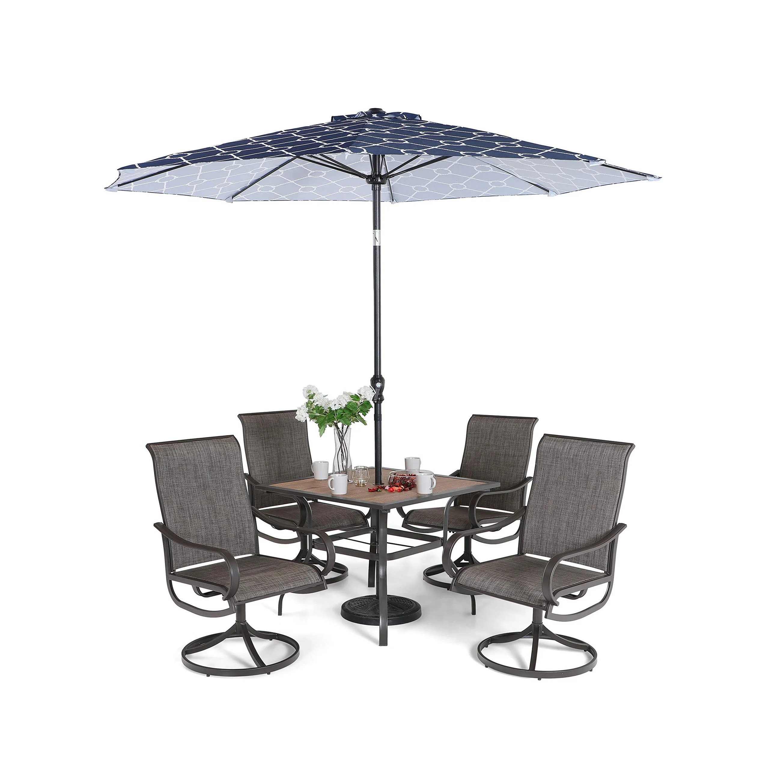 Turin 10 Piece Swivel Patio Dining Set By Hom Furniture