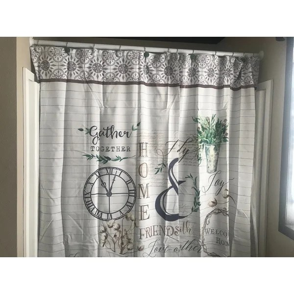 modern farmhouse shower curtain