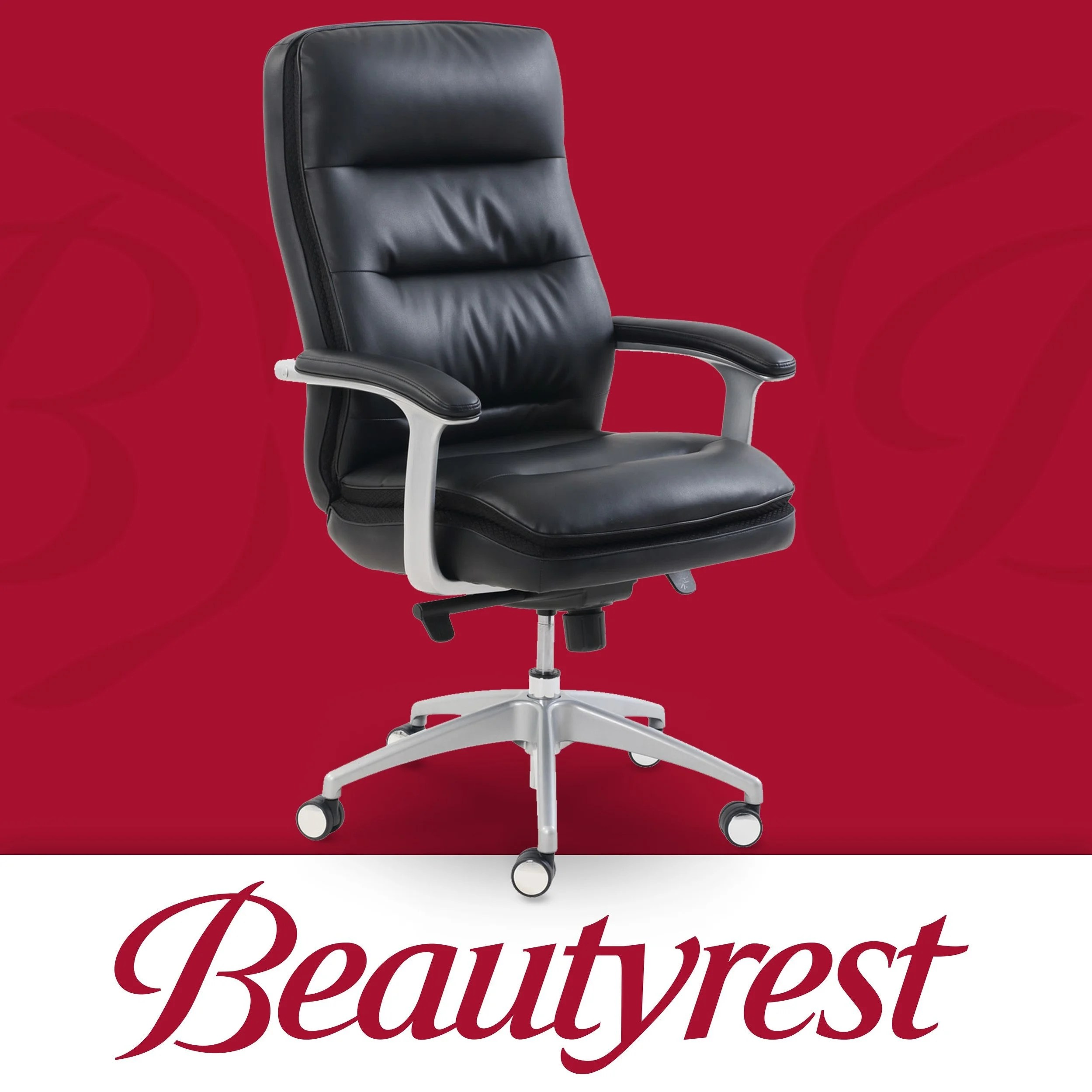 beautyrest platinum ergonomic executive office chair with memory foam black