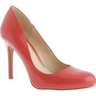 Pink high-heel shoe