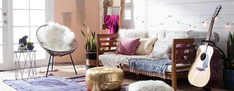 Resultado de imagem para boho decoration couch