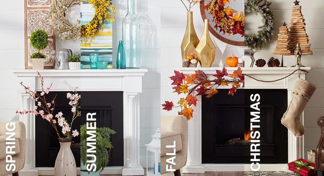 Mantel Decorating Ideas By Season
