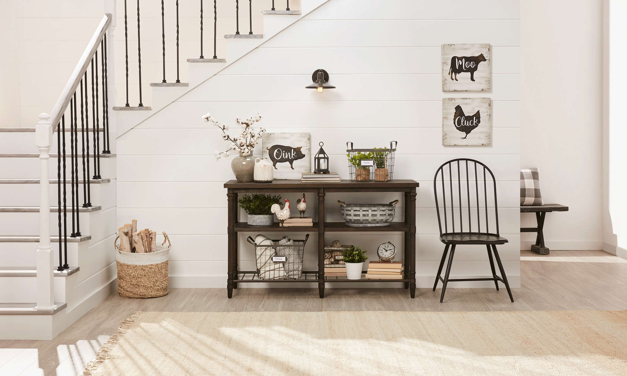 how to decorate your console table in 3