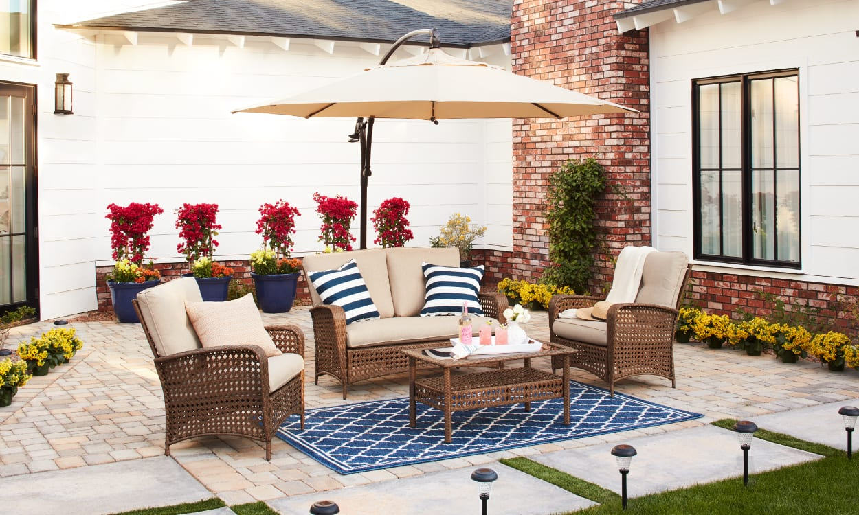 furnish your patio on a budget